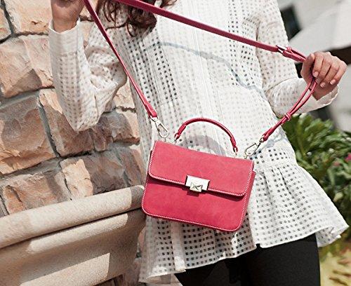 frauen-art und Weise Beiläufige handtaschenschulter Kurierbeutel kleine quadratische Beutel Rotwein