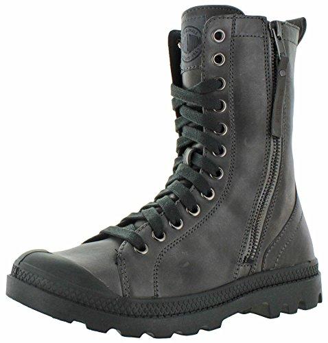 Palladium Pampa Hi Rise L Zip castlerock/pirate black Gr. 36 (Baggy Leather Knit)