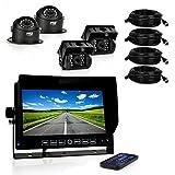 Pyle PLCMTRDVR46 Truck Bus HD 4 Camera DVR Video Recording System Dash Cam 7 Display Monitor