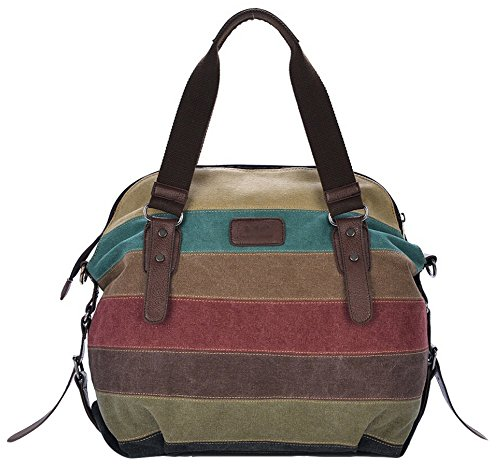 DATO Retrò Grande Tela Borsa a Tracolla da Donna Borsetta Borse a Mano Handbag Multifunzionale Sacchetto Messenger Borsa a Spalla Satchel Shopper Bag Giuntura