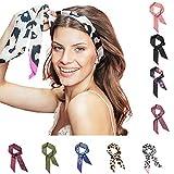 Pony Puffin Haarband - Braid Bow Verschiedene Farben Kopfband 120 x 7 cm Stirnband Seidenmatte Optik Bandana Für Flechtfrisuren ... (lila)