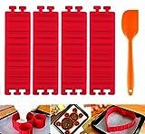 5PCS DIY Créatif Silicone Moule +Spatule en Silicone à Gâteau Magic Snake Mold Multi-puzzle Patisserie Gâteau Decoration par ilauke
