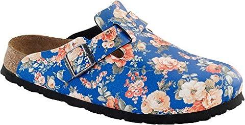 Papillio Clogs ''Boston'' aus Birko-Flor in Rambling Rose Blue 38.0 EU S