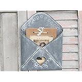 El zinc metal Letter Rack Forma lamentable Sobre de la vendimia Periódico Publicar almacenaje del sostenedor elegante cesta