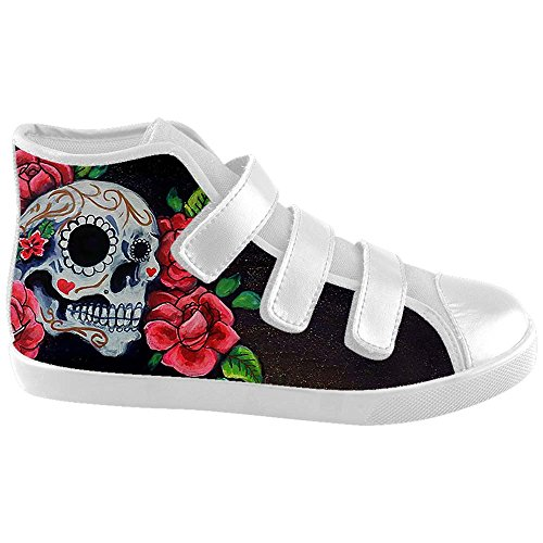 Dalliy Red Rose And Skull Kids Canvas shoes Schuhe Footwear Sneakers shoes Schuhe A