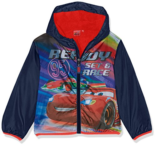 Disney cars, giacca impermeabile bambino, (blu navy), 116 (taglia produttore:6 anni)