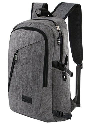 Mochila para portátiles ,mochilas escolares & hombre, mochila para computadora portátil para estudiantes universitarios 15.6 pulgadas, mochilas antirrobo resistentes al agua, gris