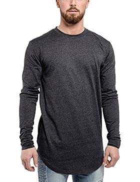 Phoenix Oversize Longsleeve T-Shirt Herren Langarm Longshirt mit Reißverschluss