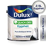 Dulux Professionelle flüssige Lackfarbe, 750ml–reines leuchtendes Weiß, weiß, 2.5L