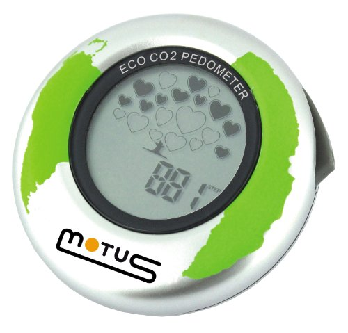 Motus Eco CO2 Contapassi con indicatore di CO2 Argento