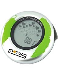 Motus ECO CO2 Schrittzähler mit exklusiver CO2-Anzeige - Silber
