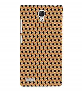 Fuson Designer Back Case Cover for Xiaomi Redmi Note :: Xiaomi Redmi Note 4G :: Xiaomi Redmi Note Prime (Squares Cross Cheques Black Square Orange Square blue Square)