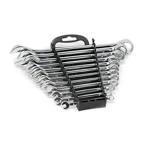 COM-FOUR® Clé mixte de 12 pièces Jeu en acier au chrome vanadium selon DIN 3113, de 6 à 22 mm (12 pièces - Ensemble de clés mixtes)