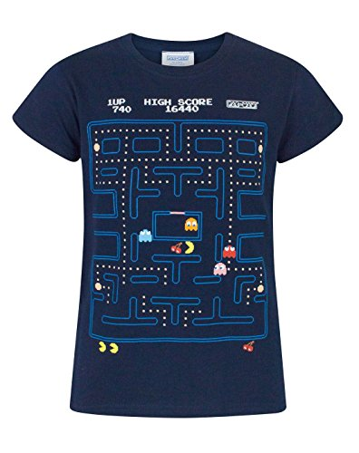 Pacman Classic Action Scene Girl's T-Shirt - Ages 5 to 14 years