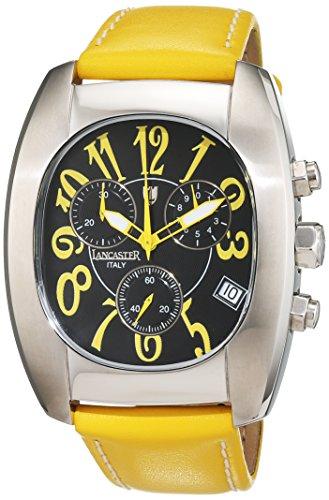 Lancaster uomo-Orologio da polso cronografo orologio 0289-S - giallo-DS