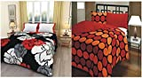 Style Urban Cotton Beautiful Flowral and Polka Print Reversable Dohar / AC Blanket Home Washable Combo of 2 Pcs.