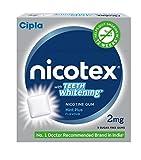 Cipla Nicotex Nicotine Teeth Whitening Gum -TW 2 mg (9x10 Pieces, Mint)