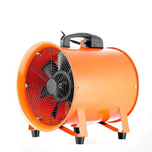 "12\"" Industrieventilator Gebläse,Axialventilator Tragbar Fan 2800r/min,mit 5m PVC-Schlauch"