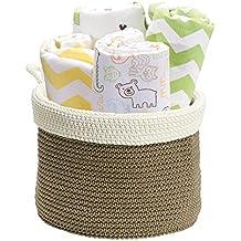 mdesign Coron Organizador para cambiador infantil para toallas de mano, pañales, ropa, toallitas