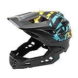 Ausomely Fahrradhelm Integralhelm Fahrrad Downhill Helm Kinderhelm 54-58cm EPS/PC mit 21 Belütungsöffnungen Stoßfest Anti-Schweiß