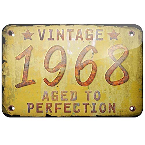 Supsum Year 1968, Born/Made Retro Fashion Wall Decor Home Art Poster Anwendbar für Garage Bar Restaurant -
