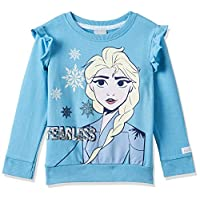 Disney Girl's Frozen Sweat Top, Blue, 3 - 4 Years