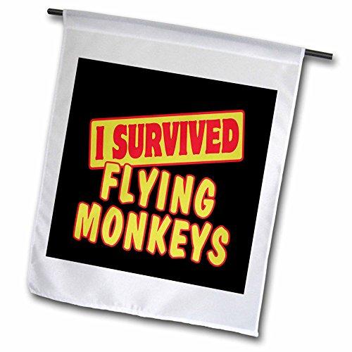 3drose FL _ 117927_ 1Ich überlebte Flying Monkeys Survival Stolz und Humor Design Garten Flagge, 12von 18 (Ich überlebte 12)