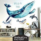 Blauer Wal Aufkleber Schlafsaal Erneuerung College Wand Aufkleber Zimmer Schlafzimmer Dekoration Poster Bedside Hintergrund Wand Selbstklebend