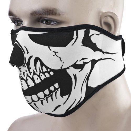 KT-SUPPLY 2 IN 1 Neopren Halb Maske Mit Klettverschluss Erwachsene Für Motorrad Radfahren