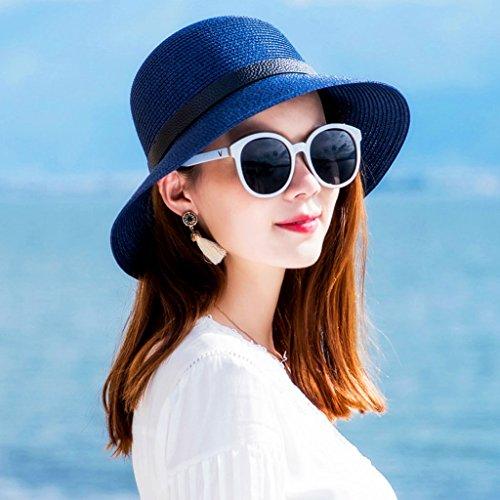 e511050e7b20a WQLQL Sombrero de paja de sol de moda Sombrilla de verano femenina Sombrero  de paja de sol Sombrero de playa Sombrero de pescado