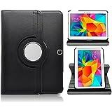 Negro Pu Leather Stand Funda Case Para El Samsung Galaxy Tab 4 10.1 T530