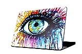 Custodia MacBook Pro 13, L2W MacBook Pro 13,3 pollici Art pittura serie Matte Silky-Smooth Hard Shell Custodia Cover per Macbook Pro 13,3 ' (modello: A1278)-colorato dipinto occhi modello 02