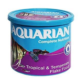 AQUARIAN Complete Nutrition, Aquarium Tropical Fish Food, Flakes, 200 g Container 7