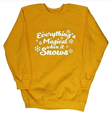 HippoWarehouse - Sweat-shirt - Fille - jaune - 11 ans
