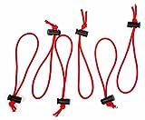10er Pack Premium Kabelbinder - Elastisches Allzweck Gummiband - Nylon umwebt - zum perfekten Ordnen von Kabeln - wiederverwendbar & verstellbar - Optimal für Kamerazubehör - 1 Jahr Garantie (Rot)
