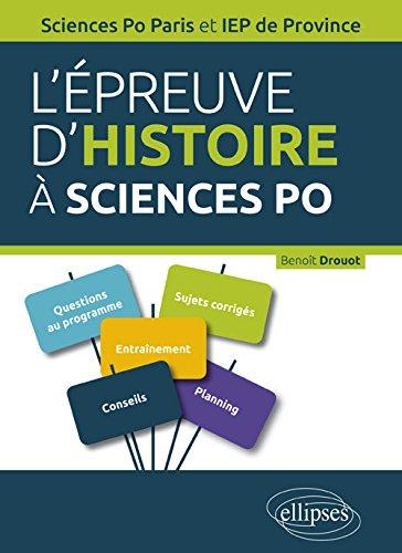 l'Épreuve d'Histoire à Sciences Po et IEP de Province