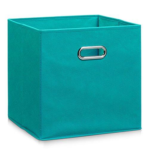 Zeller 14118 Aufbewahrungsbox, petrol, Vlies, ca. 32 x 32 x 32 cm