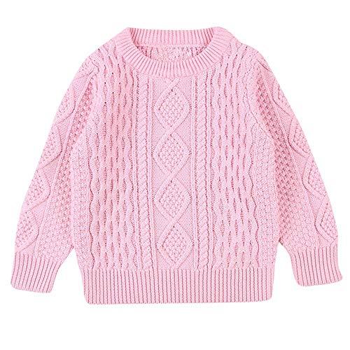 Solide Strickpullover Kinder Baby Mädchen Junge Nähende Cardigan Tops Outfit Kleidung
