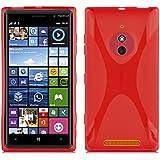 Nokia Lumia 830 Silikonhülle in ROT von Cadorabo - X-Line Design TPU Schutzhülle – Handyhülle Bumper Case Backcover in INFERNO ROT