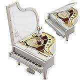Sidiou Group Regalo creativo Laputa Giorno Piano Dancing Girls San Valentino rotante Music Box Vintage meccanica classica bella Ballerina ragazza Octave Musical Box
