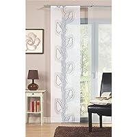 Home Fashion 87027–760Scherli–Panel japonés, Tela Decorativa, 245x 60cm, Piedra