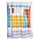 Kunststoff Duschvorhang Periodensystem