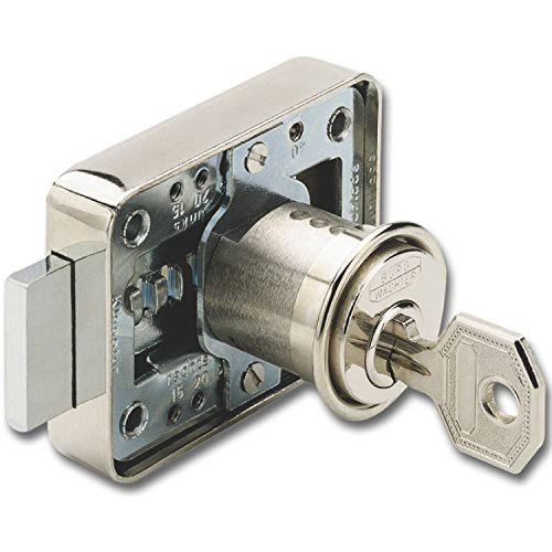 BURG WÄCHTER MZ 23 Zylinder-Kastenschloss Sperre Z 2, 25 mm, Messing vernickelt, MZ 2320 Z2 GL