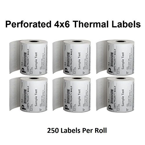 Thermal With Besteck Roll4'' 6'' Line1 Labels 250 Labels x Thermal Labels Perforated Direct Per fgbmYvI76y