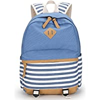 YiSherry Canvas Laptop Bag Shoulder Daypack School Backpack Causal