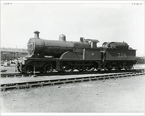 Photographic Print of Midland Railway Class 3, 4-4-0 steam locomotive number 756