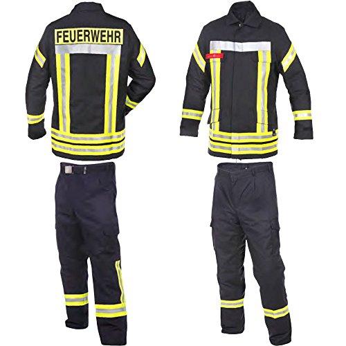 Novotex Feuerwehr-Bundhose nach HuPF Teil 2 mit Reflex und Gürtel Gr. 60