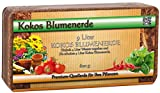 Humusziegel Kokos Blumenerde, ca. 50 Liter, 6 x 600 g