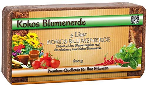Humusziegel - Kokoserde gepresst als Aussaaterde - torffrei - 180 L - 20 x 600 g