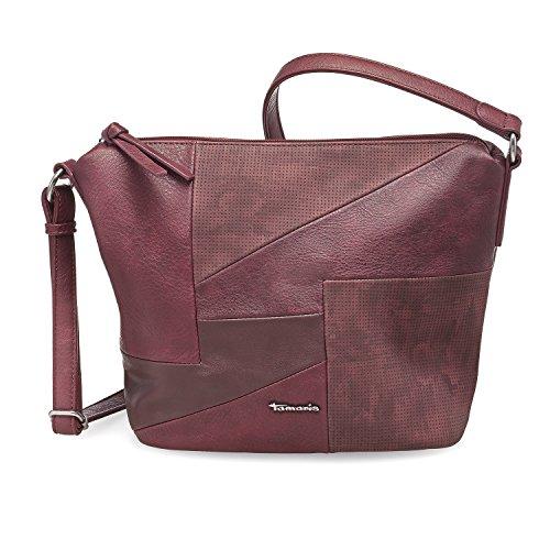 Tamaris Damen Bimba Crossbody Bag Umhängetasche, 12x27x25 cm vino rot